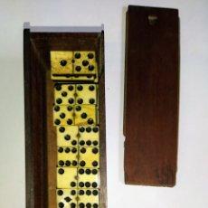 Juegos de mesa: DOMINÓ SIGLO XIX HUESO Y MADERA DE ÉBANO. COMPLETO.. Lote 204473486