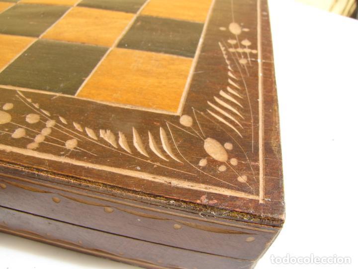 Juegos de mesa: 7- Ajedrez madera completo. Caja plegable tablero. - Foto 4 - 204522537