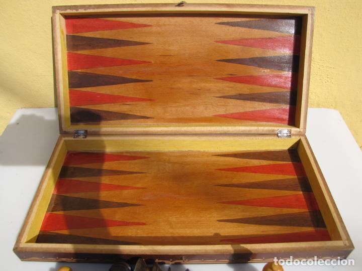 Juegos de mesa: 7- Ajedrez madera completo. Caja plegable tablero. - Foto 7 - 204522537