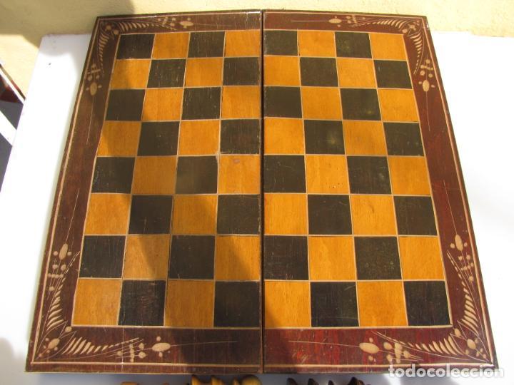 Juegos de mesa: 7- Ajedrez madera completo. Caja plegable tablero. - Foto 9 - 204522537