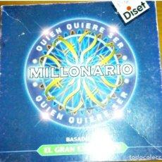 Juegos de mesa: QUIEN QUIERE SER MILLONARIO . MARCA DISET. AÑOS 90. Lote 204595291