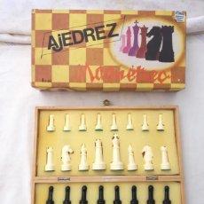 Juegos de mesa: ANTIGO JUEGO DE AJEDREZ MAGNÉTICO ESTADOCOMO NUEVO ANTIGUO JUEGO DE MESA PLEGABLE CON SU CAJA. Lote 204993703