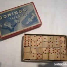 Juegos de mesa: ANTIGUO MINI DOMINO INFANTIL DE MADERA - AÑOS 50 APROX. Lote 205318545
