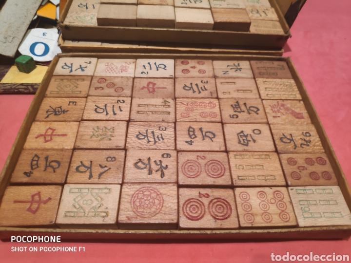 Juegos de mesa: Juego Royal Mah jongg principios s.XX fichas en bambú - Foto 6 - 205538322