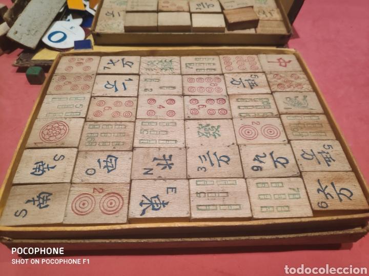 Juegos de mesa: Juego Royal Mah jongg principios s.XX fichas en bambú - Foto 7 - 205538322