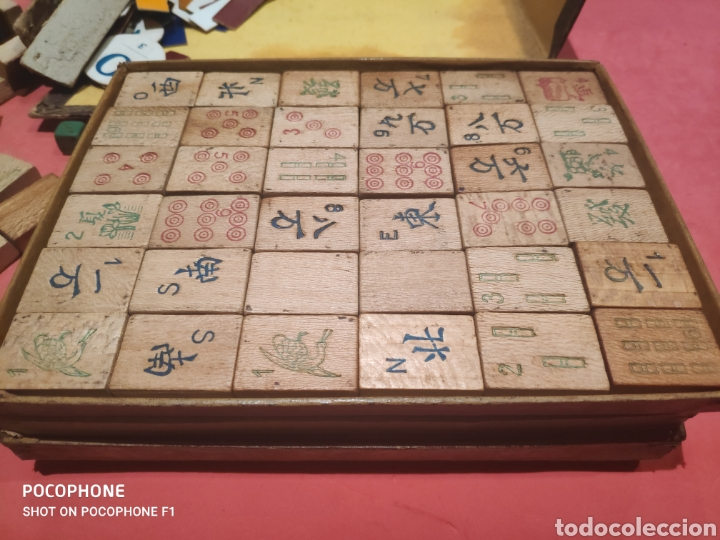 Juegos de mesa: Juego Royal Mah jongg principios s.XX fichas en bambú - Foto 8 - 205538322