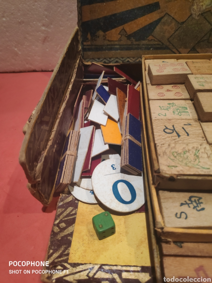Juegos de mesa: Juego Royal Mah jongg principios s.XX fichas en bambú - Foto 10 - 205538322