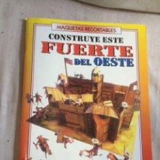 Juegos de mesa: LIBRO MAQUETA RECORTABLE DEL OESTE!. Lote 205598788