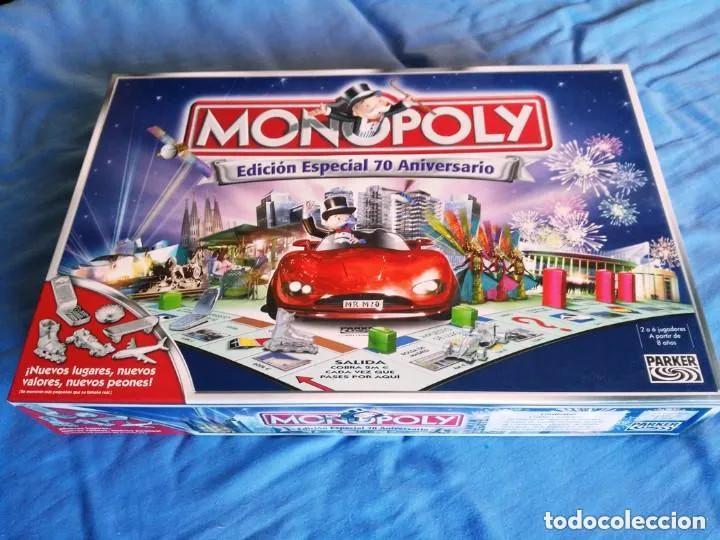 MONOPOLY EDICION ESPECIAL 70 ANIVERSARIO- PARKER (Juguetes - Juegos - Juegos de Mesa)