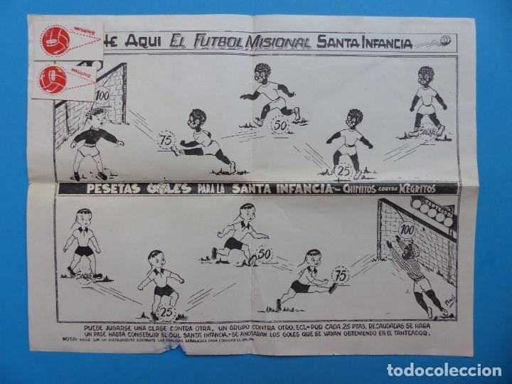 BONITO JUEGO FUTBOL MISIONAL SANTA INFANCIA, CHINITOS CONTRA NEGRITOS, AÑOS 1970-80 (Juguetes - Juegos - Juegos de Mesa)