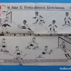 Juegos de mesa: BONITO JUEGO FUTBOL MISIONAL SANTA INFANCIA, CHINITOS CONTRA NEGRITOS, AÑOS 1970-80. Lote 206359928