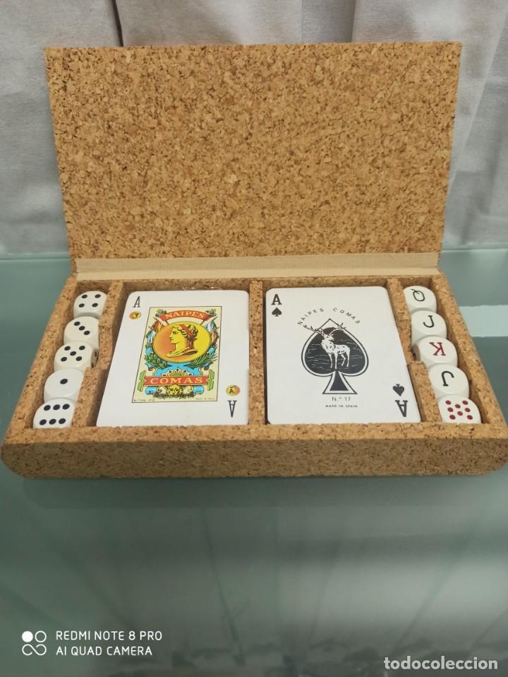 CAJA CORCHO CON CARTAS Y DADOS (Juguetes - Juegos - Juegos de Mesa)