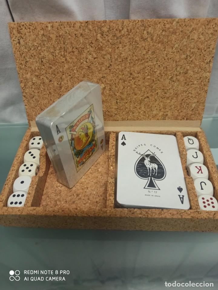 Juegos de mesa: CAJA CORCHO CON CARTAS Y DADOS - Foto 2 - 207033852