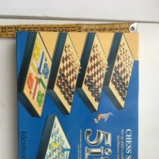Juegos de mesa: CHESS SET 5 IN BEST AJEDREZ DAMAS PARCHIS ESCALERA LUDO REVERSI OTHELLO NUEVO JUEGO MESA KREATEN. Lote 207132863