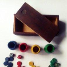 Juegos de mesa: ACCESORIOS PARCHIS CUBILETES FICHAS DADOS. Lote 207142670