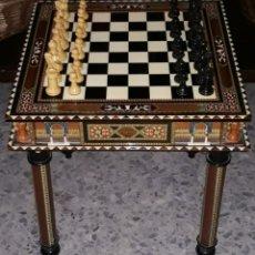 Juegos de mesa: MESA TARACEA DE AJEDREZ. Lote 207152791
