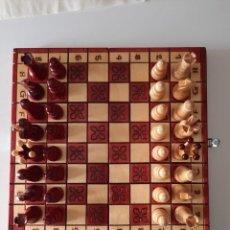 Juegos de mesa: AJEDREZ ANTIGUO HECHO A MANO ESPECTACULAR. Lote 207587563