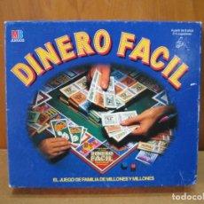 Juegos de mesa: JUEGO DE MESA DINERO FÁCIL DE MB 1989. Lote 207681491