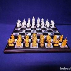 Juegos de mesa: AJEDREZ CON TABLERO DE NACAR. Lote 243521010