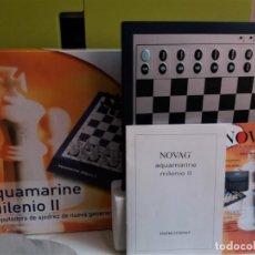 Juegos de mesa: AJEDREZ CHESS ELECTRÓNICO NOVAG AQUAMARINE MILENIO II. Lote 208991566