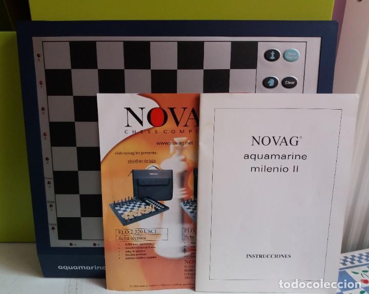 Juegos de mesa: Ajedrez CHESS electrónico Novag Aquamarine Milenio II - Foto 2 - 208991566