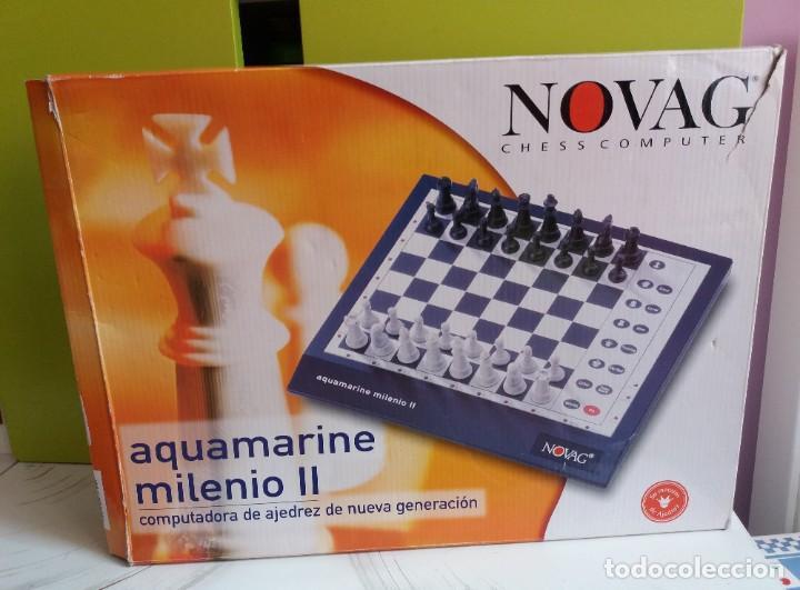Juegos de mesa: Ajedrez CHESS electrónico Novag Aquamarine Milenio II - Foto 3 - 208991566