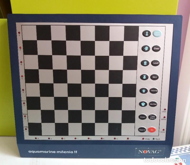 Juegos de mesa: Ajedrez CHESS electrónico Novag Aquamarine Milenio II - Foto 4 - 208991566