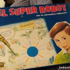 Juegos de mesa: EL SÚPER ROBOT CON SU CALCULADORA CEFAMATIC DE LOS 60. Lote 209632628