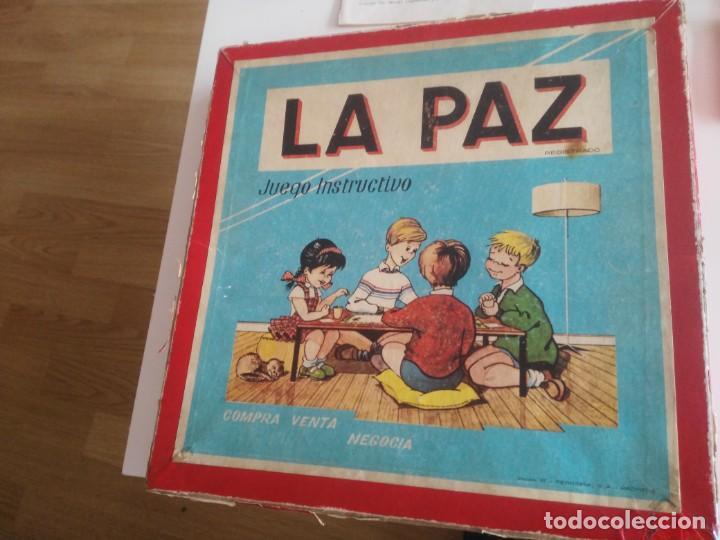LA PAZ - JUEGO INSTRUCTIVO - AÑOS 60 - SIMILAR MONOPOLY (Juguetes - Juegos - Juegos de Mesa)