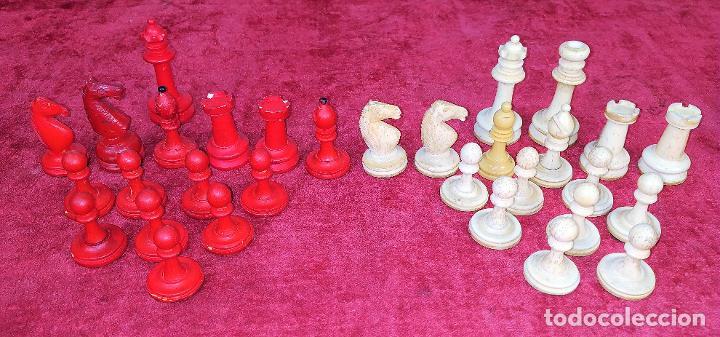 Juegos de mesa: JUEGO DE AJEDREZ EN HUESO TALLADO. INCOMPLETO. ESPAÑA. SIGLO XIX-XX - Foto 2 - 210022596