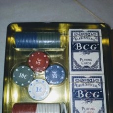 Juegos de mesa: JUEGO COMPLETO POKER CHIPS. Lote 210154605