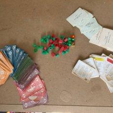 Juegos de mesa: ANTIGUAS FICHAS, BILLETES Y TARJETAS DEL MONOPOLY (BORRÁS). Lote 210222270