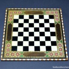 Juegos de mesa: TABLERO AJEDREZ DE TARACEA 40CMX40CM VER FOTOGRAFIAS. Lote 210562753