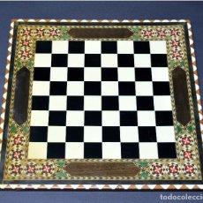 Juegos de mesa: TABLERO AJEDREZ DE TARACEA 40CMX40CM VER FOTOGRAFIAS. Lote 210562848