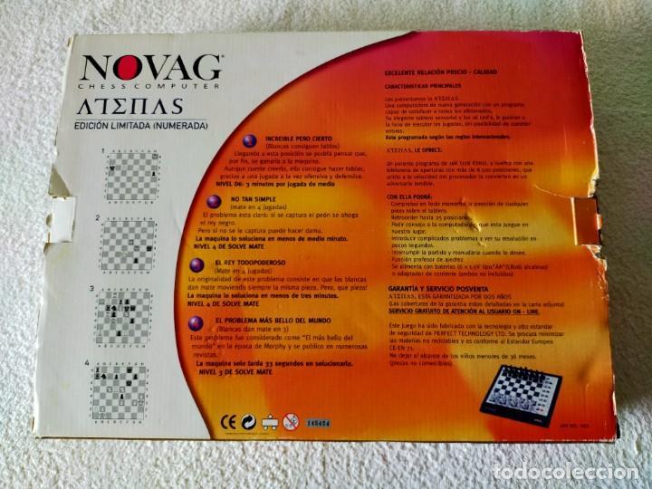 Juegos de mesa: AJEDREZ ELECTRONICO: NOVAG CHESS COMPUTER - ATENAS (EDICIÓN LIMITADA, NUMERADA) - NOVAG - Foto 10 - 210644848