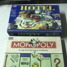 Juegos de mesa: HOTEL MB PARKER 2004 Y MONOPOLI 1996 COMPLETOS PERFECTO ESTADO. Lote 210695136