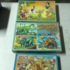 Juegos de mesa: PUZZLE DISNEY BLANCANIEVES DINOSAURIOS PATO DONALD 100 200 PIEZAS. Lote 210695476