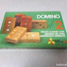 Juegos de mesa: JUEGO DOMINO 2 JUGETES KORIS MADERA NUEVO PRECINTADO. Lote 210734920