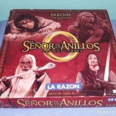 Juegos de mesa: PARCHIS DEL SEÑOR DE LOS ANILLOS EDITADO POR EL PERIODICO LA RAZON ORIGINAL. Lote 254320530