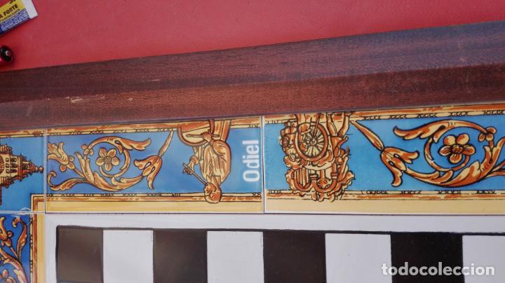 Juegos de mesa: AJEDREZ - TABLERO AZULEJOS MOTIVOS DEL ROCÍO + PIEZAS EN MÁRMOL + ESTUCHE - VER FOTOS. - Foto 4 - 211656908