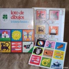Juegos de mesa: JUEGO EDUCA, LOTO DE DIBUJOS. LA LOTERIA FANTÁSTICA. COMPLETO.. Lote 211701588
