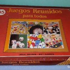Juegos de mesa: CAJA DE JUEGOS REUNIDOS PARA TODOS 35 DE SANTAELENA ORIGINAL MUY COMPLETA. Lote 212536367