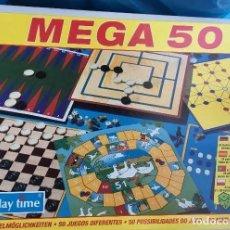Juegos de mesa: MEGA 50; JUEGOS REUNIDOS , DE PLAY TIME. - JUEGO DE MESA--HH . AÑOS 80, EN PERFECTO ESTADO.. Lote 212572492
