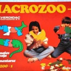 Juegos de mesa: JUEGO EDUCATIVO MACROZOO 2, DE EVERDIDAC - JUEGO DE MESA--HH -NUEVO Y PRECINTADO. Lote 212572683