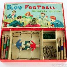 Juegos de mesa: BLOW FOOTBALL - CAJA 32X16 CM. EN BIUEN ESTADO GENERAL. Lote 213217072