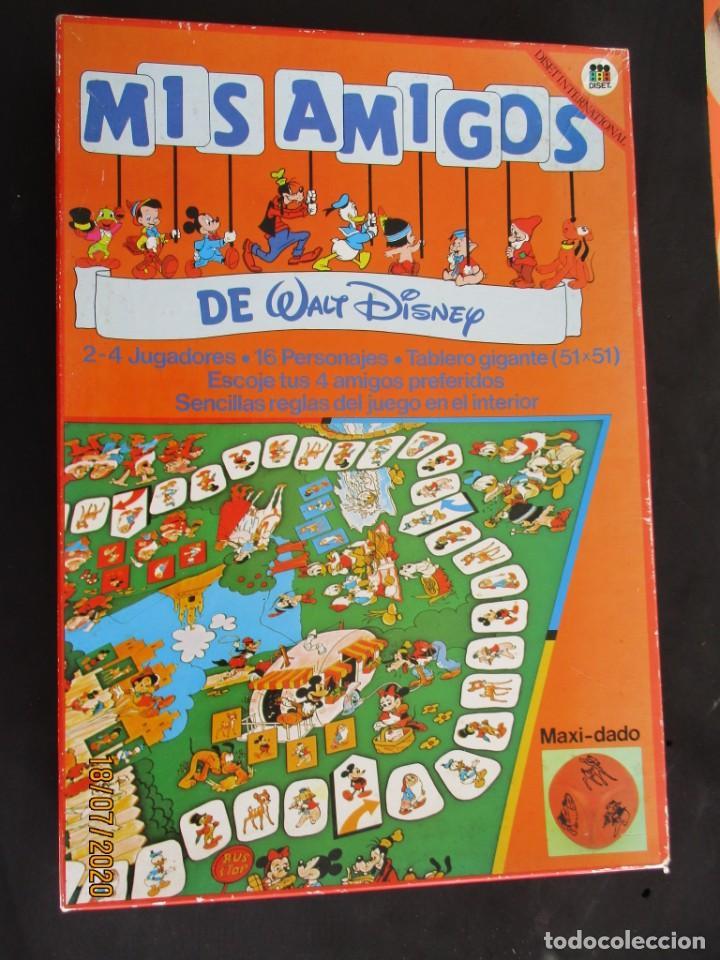 MIS AMIGOS DE WALT DISNEY JUEGO DE MESA DE DISET, AÑOS 80 (CT2) (Juguetes - Juegos - Juegos de Mesa)