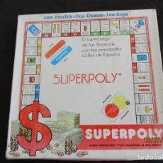 Juegos de mesa: ANTIGUO JUEGO DE MASA SUERPOLY SUPER POLY REF. 1000 (CT2). Lote 213321017