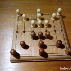 Juegos de mesa: JUEGO DE MESA EN MADERA CON CAJA E INSTRUCCIONES. Lote 213414700
