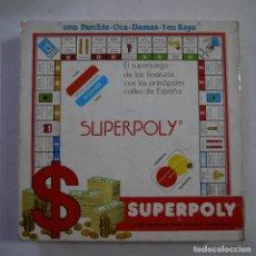 Juegos de mesa: SUPERPOLY CON PARCHÍS, OCA, DAMAS Y 3 EN RAYA - FALOMIR JUEGOS - REF. 1000. Lote 213582892