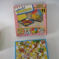 Juegos de mesa: ESTUCHE ESCOLAR CON JUEGO MAGNETICO ESCALERA RIMA AÑOS 70 , SIN USO. Lote 214457278